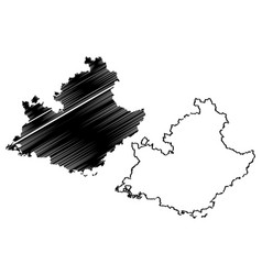 Provence-alpes-cote dazur map vector