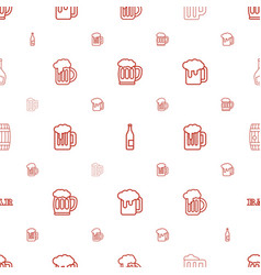 Pub icons pattern seamless white background vector