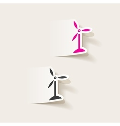 realistic design element wind turbines vector image