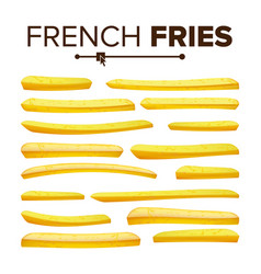 Realistic french fries set classic vector