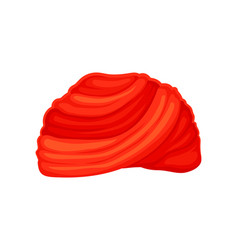 Red classic turban on white vector