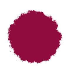 red grunge blot vector image