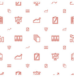 report icons pattern seamless white background vector image