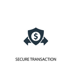 Secure transaction icon simple element vector