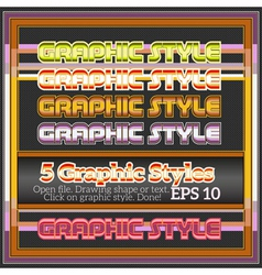 Set Of Colorful Original Graphic Styles vector