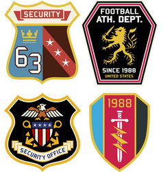 set police medal badges and patches vector image