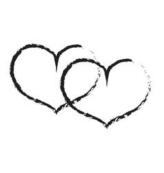 Sign black double heart 301 vector