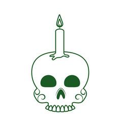 Skull with candle cinco de mayo mexican vector