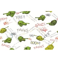 Tanks Pattern vector