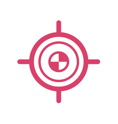 target goal icon - target focus arrow - marketing vector image