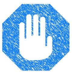 terminate grunge icon vector image