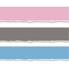 Torn paper blank banners realistic vector