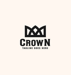 vintage crown logo royal king queen abstract logo vector image