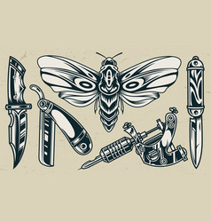 Flash Tattoo Knife Vector Images Over 130