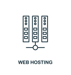 Web hosting icon thin outline style design from vector