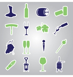 Wine stickers icon set eps10 vector