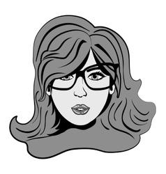 Woman comic face vector