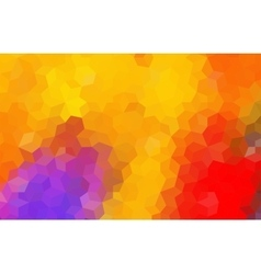 Yellow Red Mosaic Abstract Background vector image