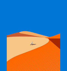 Young arab resting in the sand dunes vector