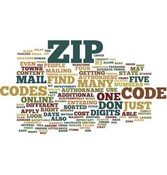Zip codes text background word cloud concept vector