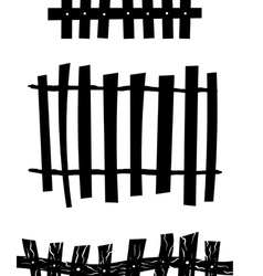 Fence Set vector image