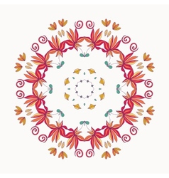 floral roun ornament vector image vector image