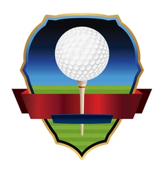 Golf emblem badge vector
