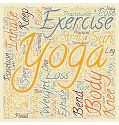 How to borrow from Yoga for Weight Loss text vector image vector image