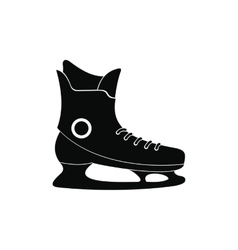 Ice skate black simple icon vector image vector image