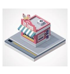isometric ice cream store vector image vector image