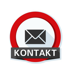 Mail contact button non-english text - contact vector