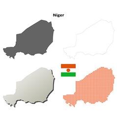 Niger outline map set vector image