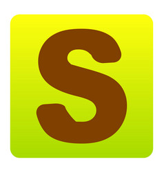 letter s sign design template element vector image