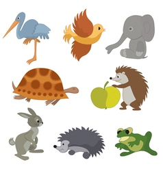 Set of small animals vector