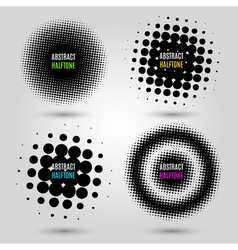 Set with abstract halftone design elements vector image vector image