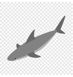 shark isometric icon vector image