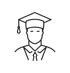 Student line icon vector image