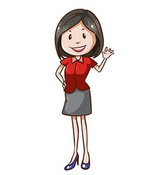 A simple office worker vector image vector image
