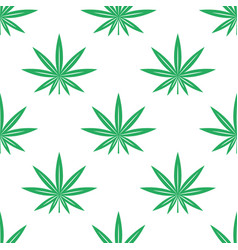 cannabis or marijuana leaves seamless pattern vector image vector image