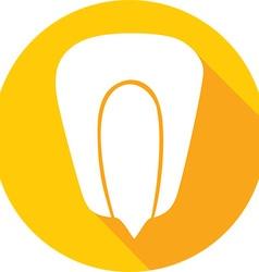 Corn Grain Icon vector image vector image
