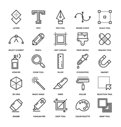 Design Tools Icons vector image vector image