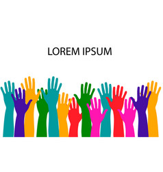 hands of different colors cultural diversity vector image