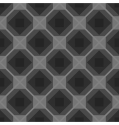 Seamless checkered black and white tablecloth vector image vector image