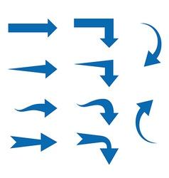 Set of Ten different Arrows vector image vector image