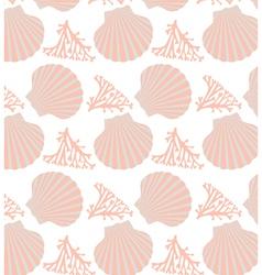 shell seamless vector image vector image