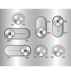Switch elements vector image