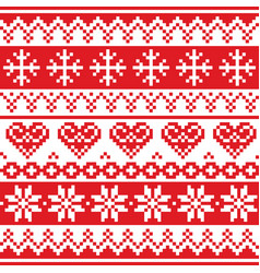 christmas winter seamless pattern vector image vector image