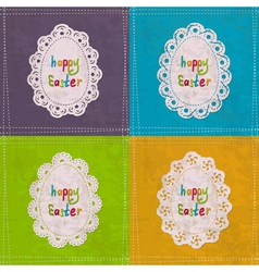Easter cards with lacy frames vector image vector image