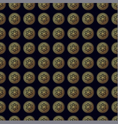 gold flower seamless pattern vector image
