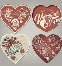 Vintage style valentines deisgn vector image vector image